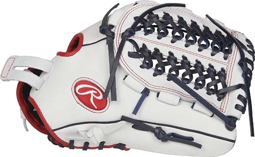 Best Outfielders Glove For High School - Rawlings RLA125FS-15WNS-3/0 Liberty Advanced Fastpitch Softball Glove, White/Scarlet/Navy, 12.5
