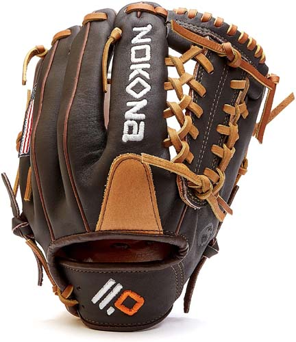 Nokona S-200M Handcrafted Alpha Baseball Glove - Modified Trap for Infield and Outfield Positions, Youth Age 14 and Under 11.25 Inch Mitt, Made in The USA
