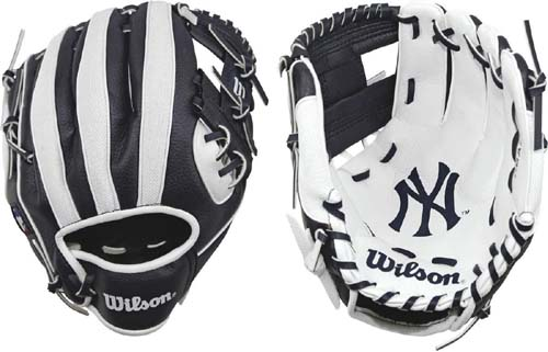 Wilson A200 Youth MLB 10 inch Tee Ball Glove - All Positions and Perfect for Beginners